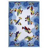 Kolorful Kidz Friendly Skies Kids Rug