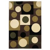 Moda Plum/Ivory Circles Rug