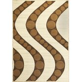 Onyx Ivory/Coffee Waves Rug