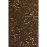 Bali Mocha Floral Traces Rug