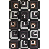 Milan Charcoal Squares Rug