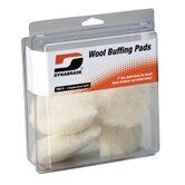 "3"""" Synthetic Wool Pads (Four In Clear Pkg.)"