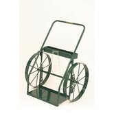 300 Series Continuous Handle Hand Truck For Medium And Large Cylinders With 24&quot; Steel Wheels