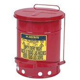 Red Oily Waste Cans - 14 gallon oily waste canw/lever