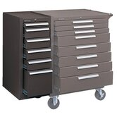 Hang-On Cabinets - 00664 6-drawer hang-on cabinet brown