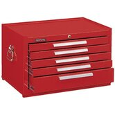 Mechanics' Chests - 10329 mechanic chest 5 drawer smooth red