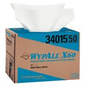 WypAll&reg; X60 Wipers - 12&quot;x16&quot; white ball terrywipe 180 per box