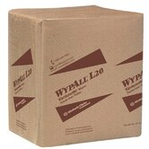 "WypAll® L20 Wipers - 11.75""x15"" tan kimtowelq-fold wipe 4-ply"