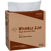 "WypAll® L20 Wipers - 9.75""x16.5"" white kimtowel wipes 4 ply 88/box"