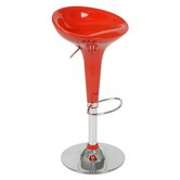 Ashley Adjustable Bar Stool in Red