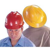 V-Gard® Protective Caps and Hats - red v-gard slotted hard