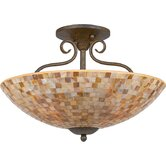 Monterey Mosaic Semi Flush Mount