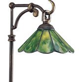 Antique Bronze Landscape Glass Top Tiffany Path Light