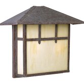 Mission Incandescent Brass Outdoor Wall Lantern