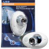 Water Powered LED Shower Light Bulb in White