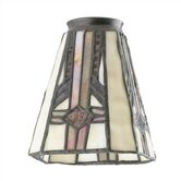2.25&quot; Ceiling Fan Fitter Square Tiffany Glass Shade
