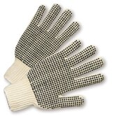 Men's Cotton And Polyester String Knit Gloves With PVC Dots On One Side