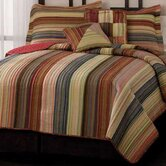 Retro Chic Quilt Bedding Collection in Red