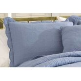 French Tile Standard Sham in Dusty Blue