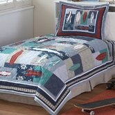 Surfing USA Twin Quilt with Pillow Sham
