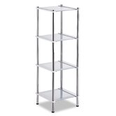 Contas 4 Tier Etagere in Chrome