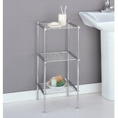 Metro Three Tier Etagere in Chrome