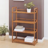 Lohas Four Tier Storage Shelf in Caramel