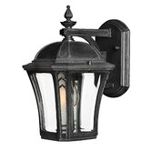 Wabash  10&quot; x 6.25&quot; Outdoor Wall Lantern in Museum Black