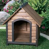Outback Country Lodge Dog House in Walnut