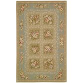 French Tapis Sand/Green Rug