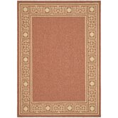 Courtyard Rust/Sand Geometric Rug
