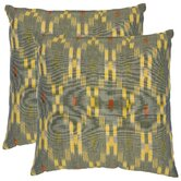 Taylor Decorative Pillows in Grey and Yellow (Set of 2)