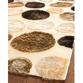 Miami Shag Cream/Multi Polka Dots Rug