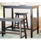 Paisley Pub Table in Dark Espresso (Set of 4)