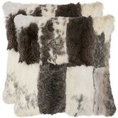 Angora Rabbit Fur Decorative Pillow (Set of 2)