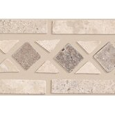 "Accent Statements 2 1/2"" x 11 1/2"" Diamond Decorative Border in Beige/Mocha"