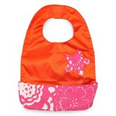 Be Neat Bib in Fuchsia Blossoms