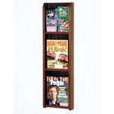 Three Magazine and Six Brochure Oak and Acrylic Wall Display