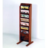 Free Standing Seven Pocket Magazine Rack
