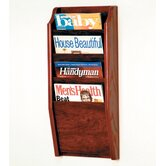 Four Pocket Wall Mount Magazine Rack