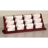 Twelve Pocket Counter Top Business Card Holder