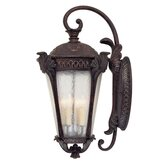 Pompia  Outdoor Wall Lantern in Distressed Bronze