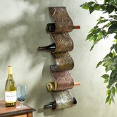 Blitz Sculpture 5 Bottle Wall Mounted Wine Rack