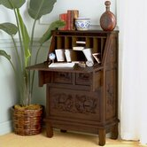 Cynthia 26&quot; W Hand-Carved Drop-Front Secretary