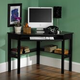 "Boone 50"" W Corner Desk in Black"