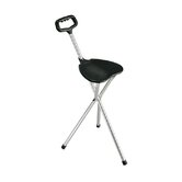 Deluxe Folding Lightweight Adjustable Height Cane Seat