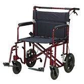 Lightweight Transport Wheelchair in Red