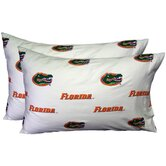 Florida Gators Pillow Case Set in White