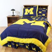 Michigan Bed in a Bag with Team Colored Sheets