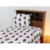 South Carolina Printed Sheet Set in White